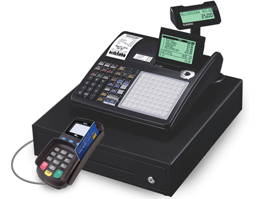 Casio register with integrated payments